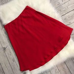 Giorgio Armani red silk skirt